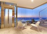 11 Glass Lift Entrance to Villa