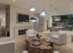 VM lounge fireplace