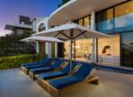 VM pool deck at sunset
